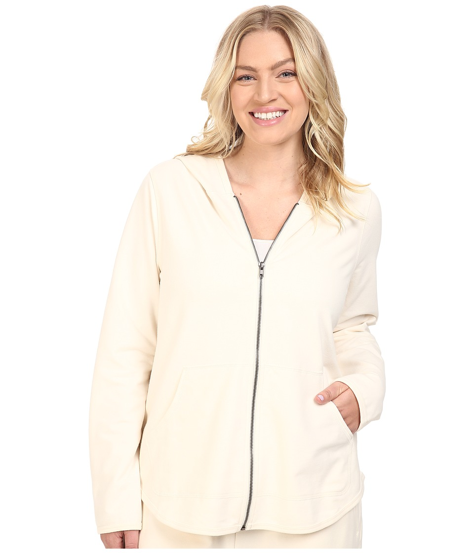 Yummie by Heather Thomson - Plus Size Baby French Terry Zip-Up Hoodie (Cream) Women's Sweatshirt