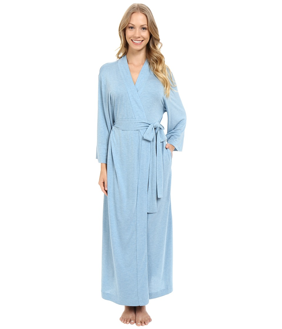 Natori - Shangri-La Robe (Heather Sailor Blue) Women's Robe plus size,  plus size fashion plus size appare