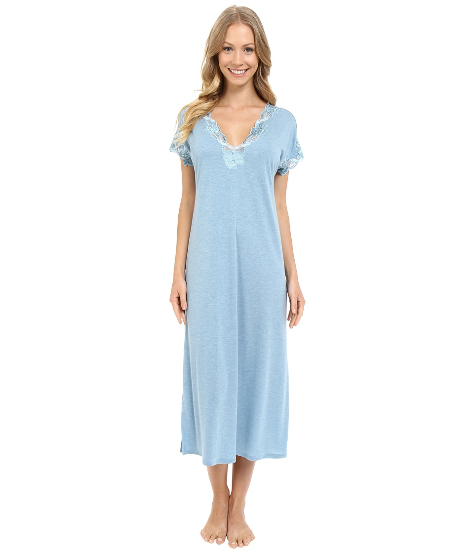 Natori - Zen Floral Nightgown (Heather Sailor Blue) Women's Pajama