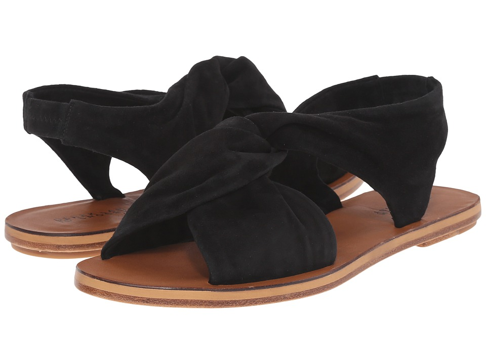 10 Crosby Derek Lam - Pell (Black Fine Suede) Women's Toe Open Shoes