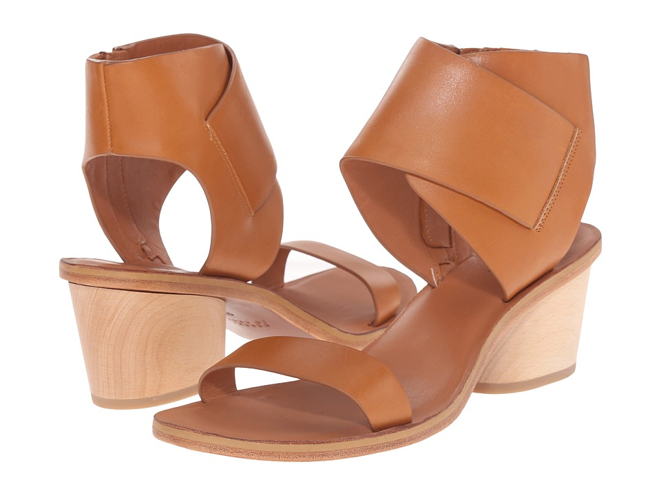 10 Crosby Derek Lam - Antonia (Tan Soft Calf/Watersnake) Women's Sandals
