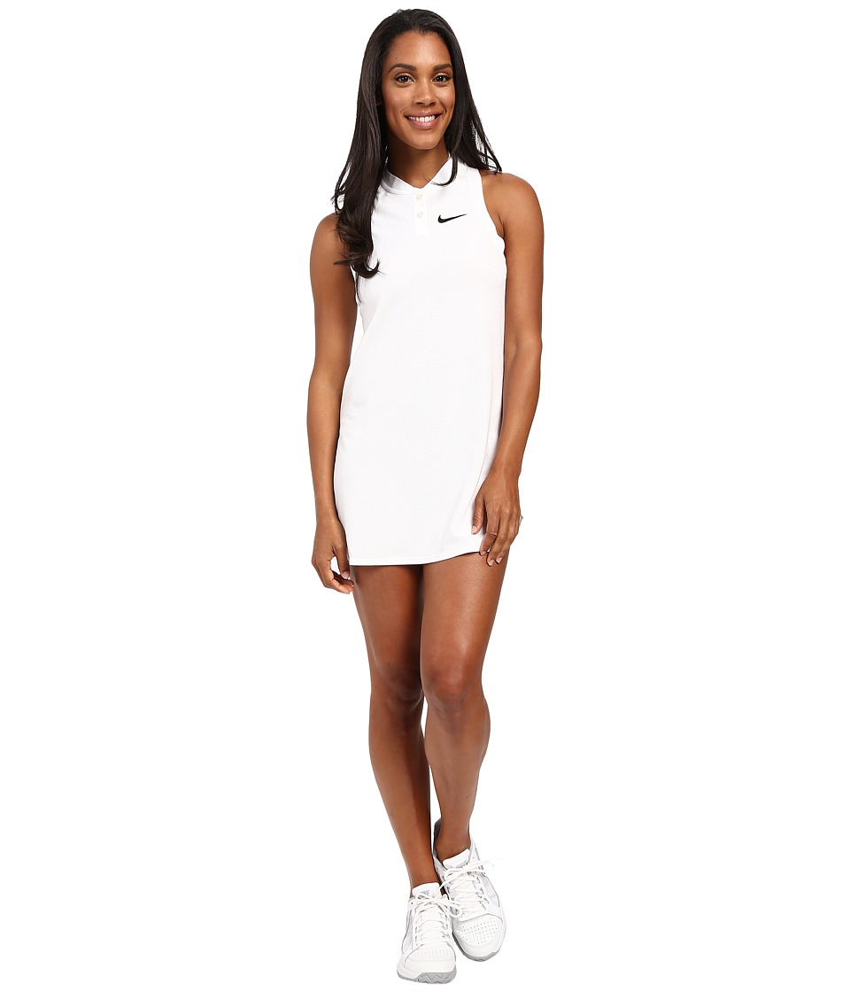 Nike - Court Premier Slam Tennis Dress (White) Women's Dress