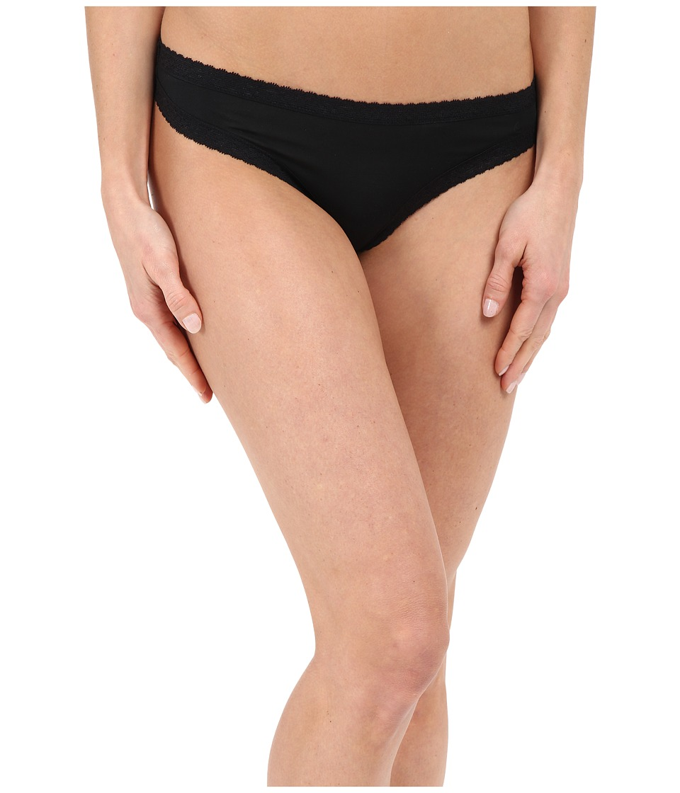 Yummie - Nash Micro Modal Comfort Lace Thong (Black) Women's Underwear