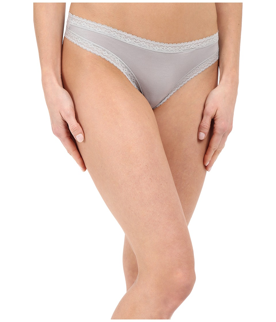 Yummie by Heather Thomson - Nash Micro Modal Comfort Lace Thong (Silver Sconce) Women's Underwear