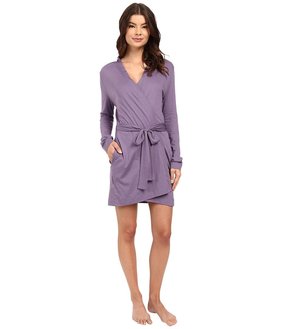 Yummie by Heather Thomson - Pima Jersey Short Robe (Mulled Grape) Women's Robe