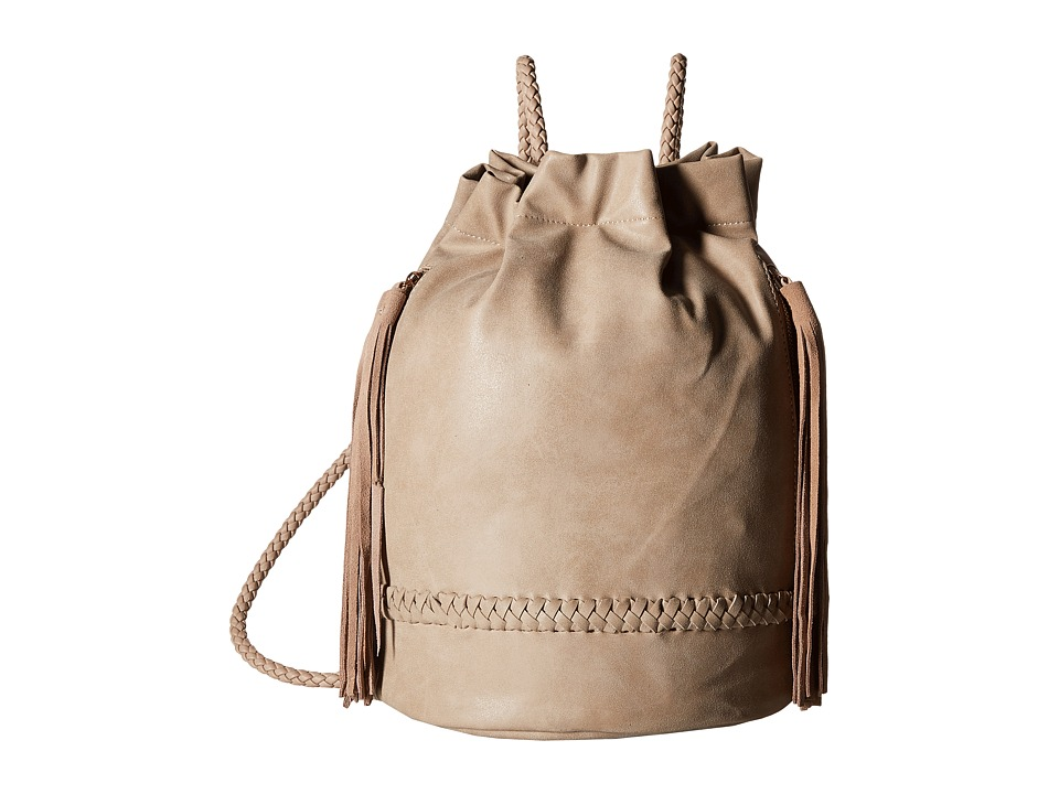 Gabriella Rocha - Anna Bucket Backpack with Braided (Taupe) Backpack Bags
