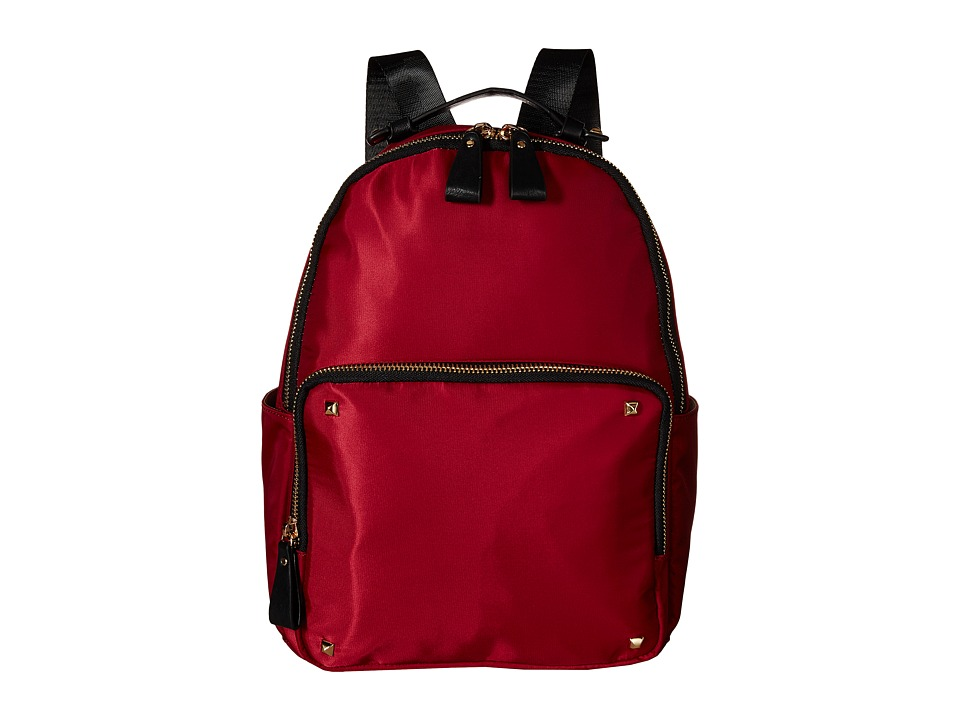 Gabriella Rocha - Lauren Pocketed Backpack with Studs (Wine) Backpack Bags