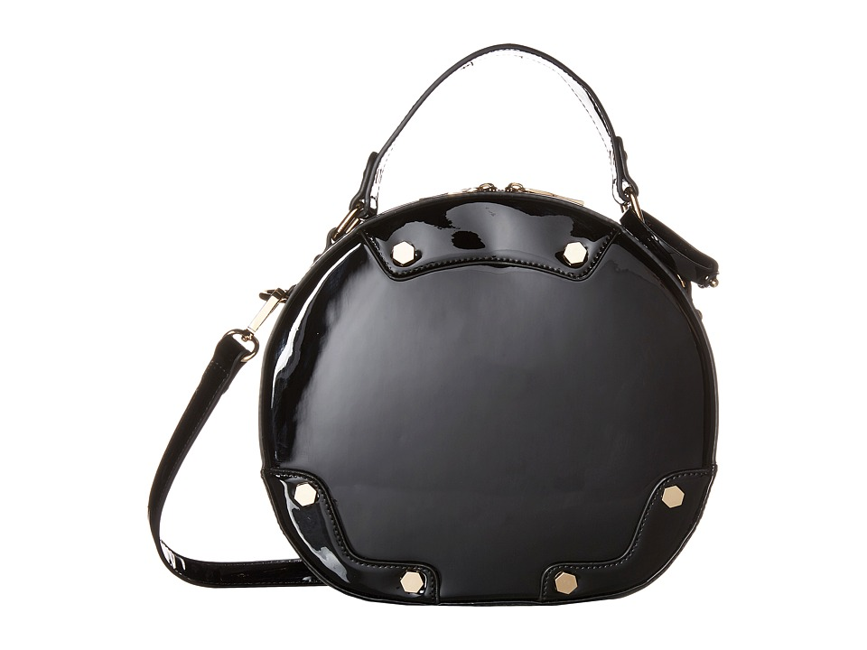 Gabriella Rocha - Willa Circle Patent Purse (Black) Handbags