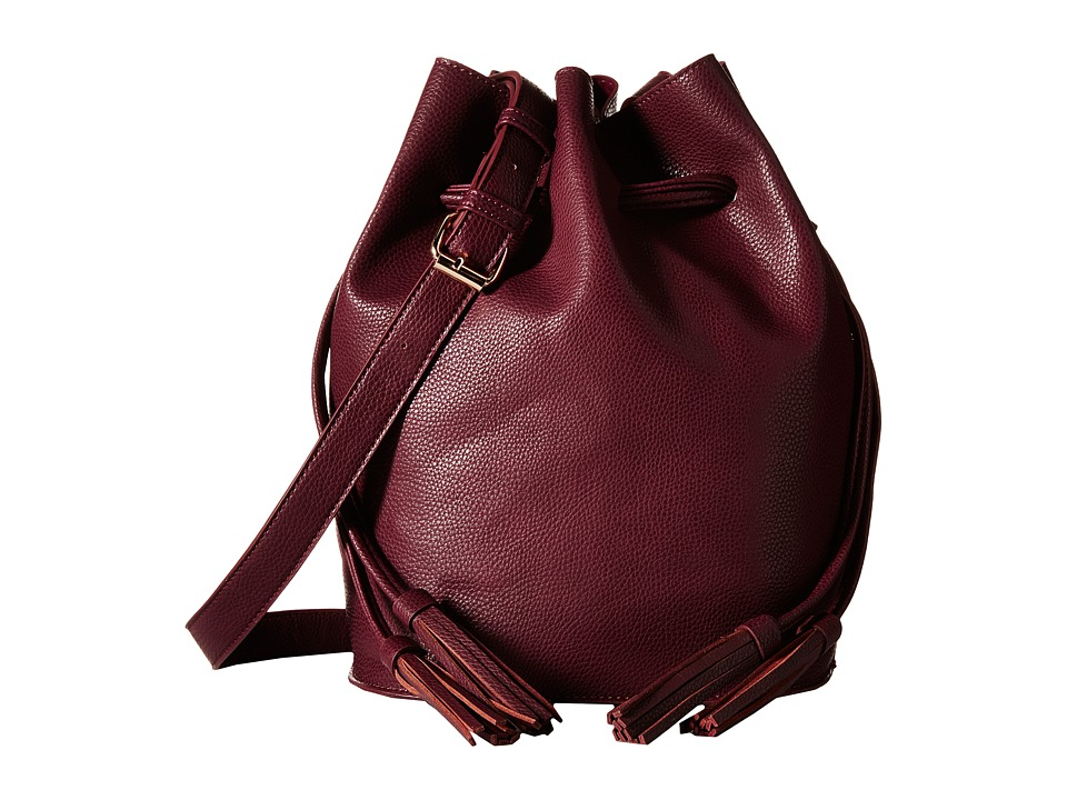 Gabriella Rocha - Sadie Bucket Purse with Tassels (Plum) Cross Body Handbags