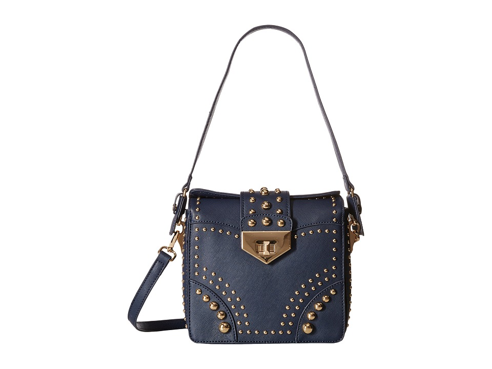 Gabriella Rocha - Caroline Gold Studded Crossbody Purse (Navy) Cross Body Handbags