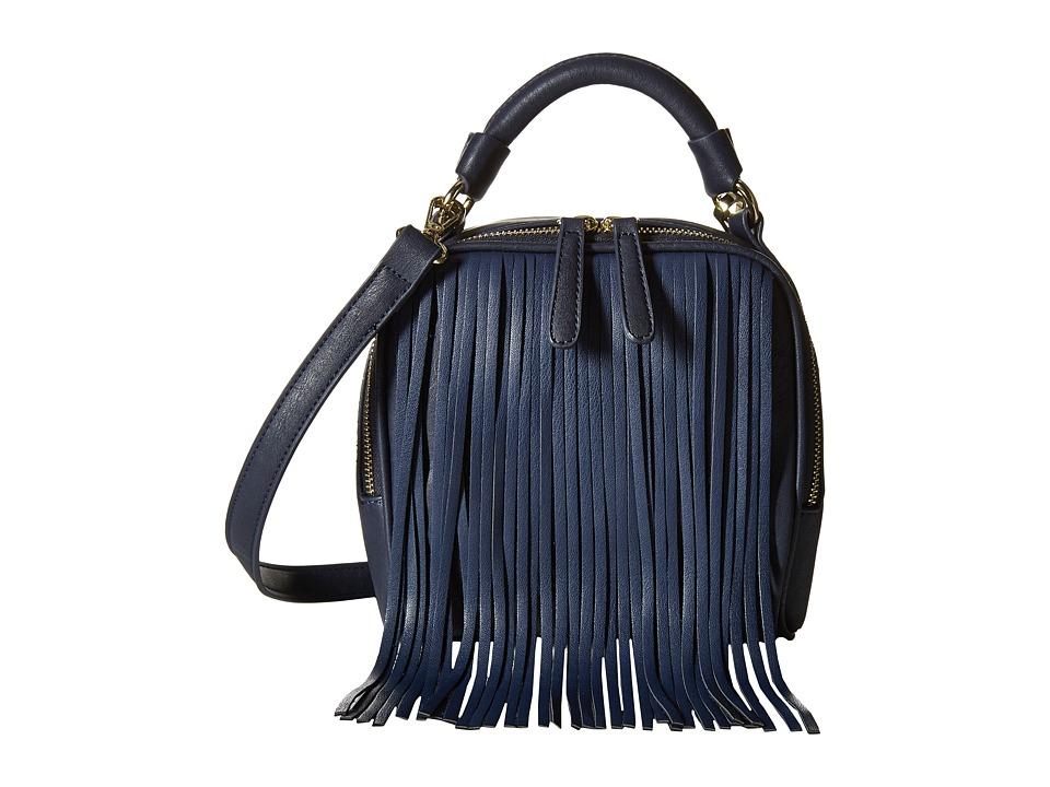 Gabriella Rocha - Payton Fringe Purse (Navy) Handbags