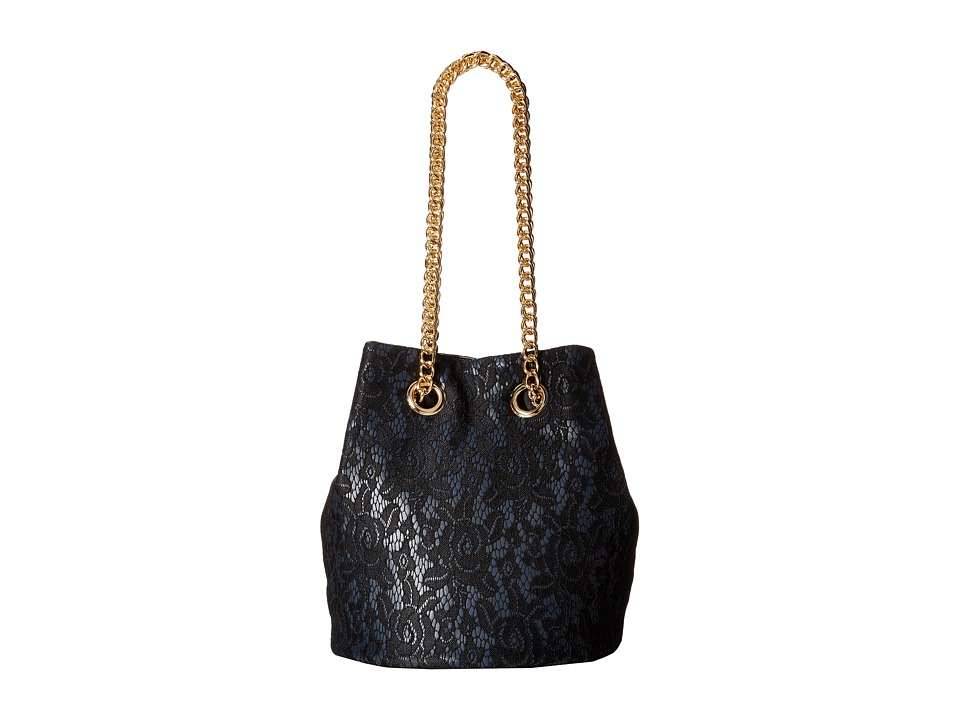 Gabriella Rocha - Ariana Lace Bucket Purse (Black) Handbags