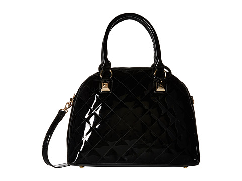 Gabriella Rocha - Camila Patent Quilted Purse (Black) Satchel Handbags
