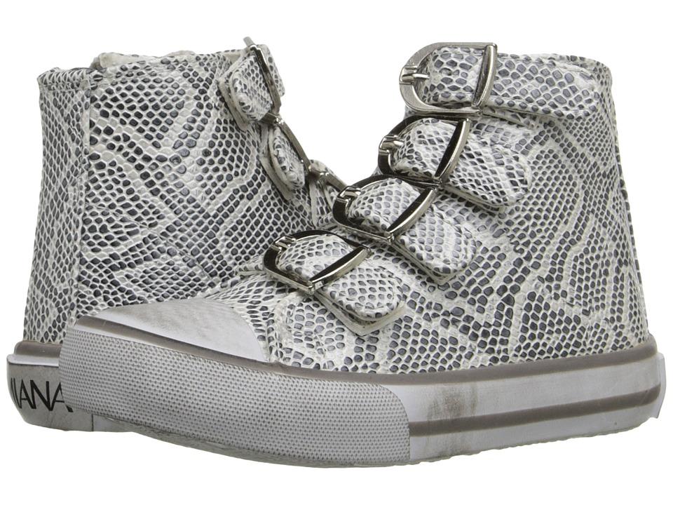 Amiana - 15-A5172 (Toddler/Little Kid/Big Kid/Adult) (Black/White Metallic Python) Girls Shoes