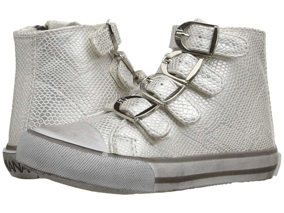 Amiana - 15-A5172 (Toddler/Little Kid/Big Kid/Adult) (Silver Metallic Python) Girls Shoes