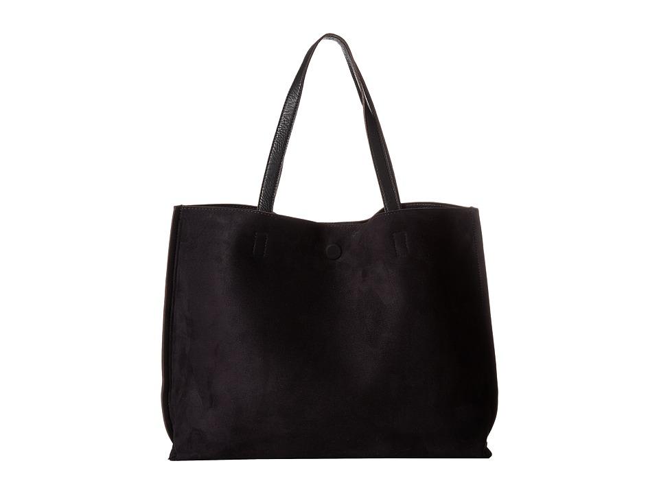 Gabriella Rocha - Madeline Micro Suede Reversible Tote (Black) Tote Handbags