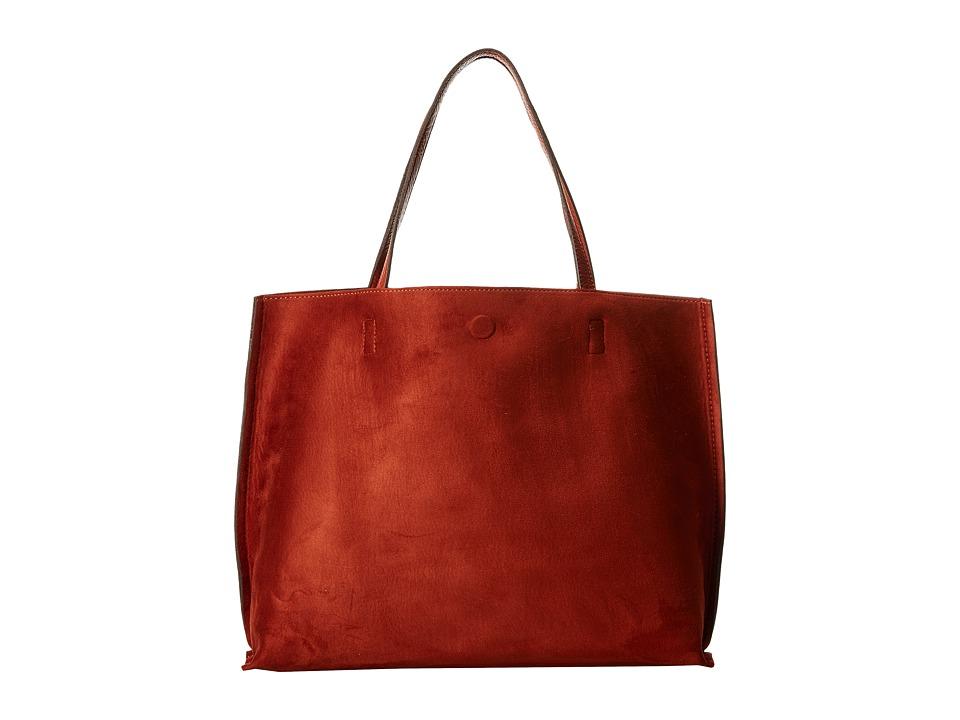 Gabriella Rocha - Madeline Micro Suede Reversible Tote (Burnt Orange) Tote Handbags