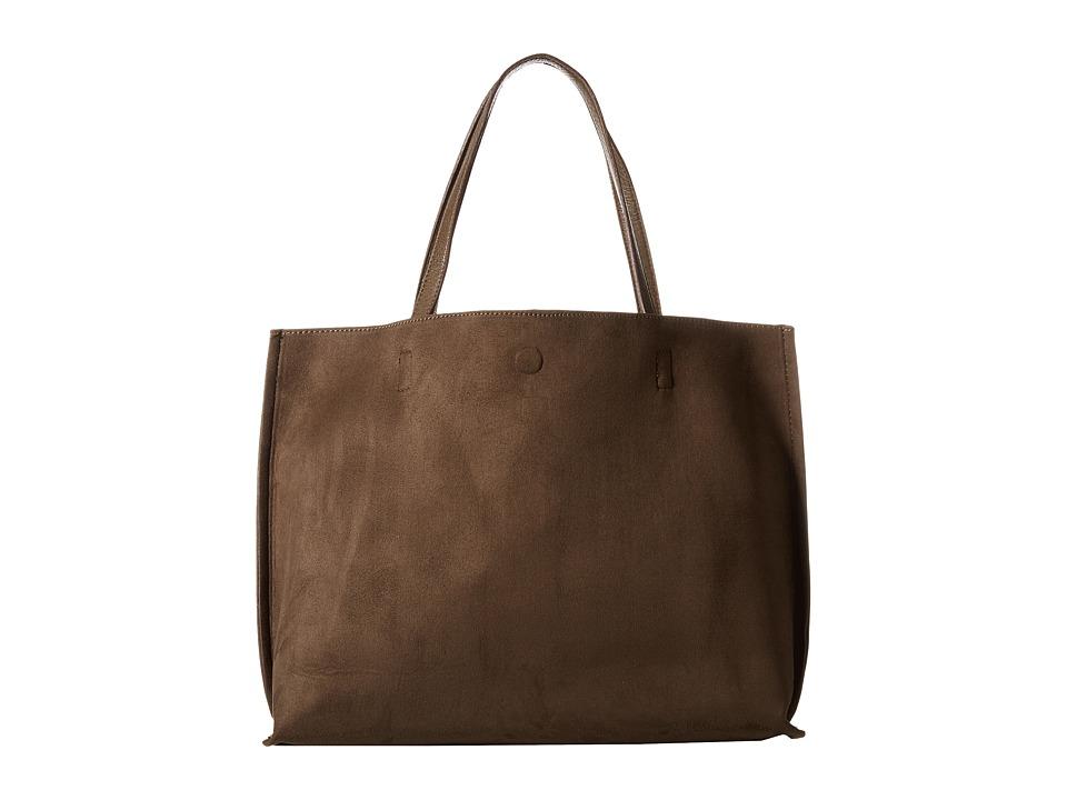Gabriella Rocha - Madeline Micro Suede Reversible Tote (Olive) Tote Handbags