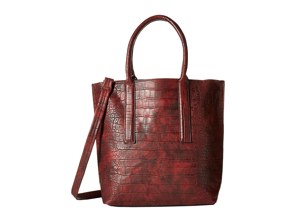 Gabriella Rocha - Alexis Crocodile Tote with Inside Bag (Red) Tote Handbags