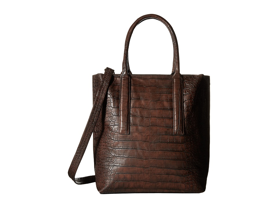 Gabriella Rocha - Alexis Crocodile Tote with Inside Bag (Carafe) Tote Handbags