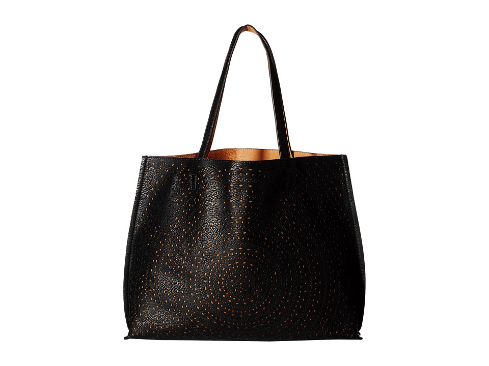 Gabriella Rocha - Georgia Cut Out Spiral Tote (Black/Camel) Tote Handbags