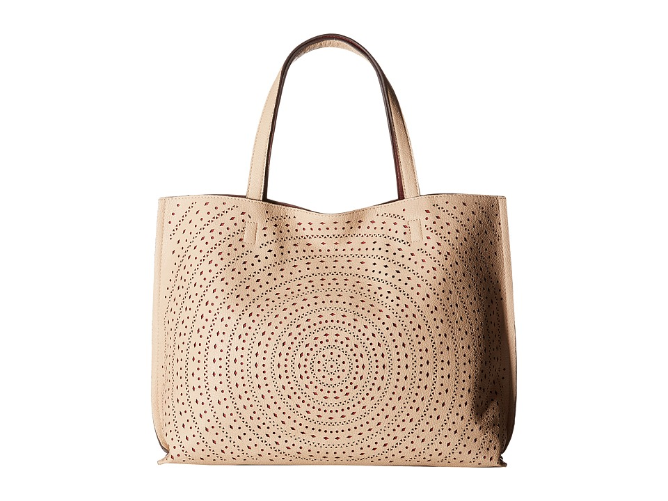 Gabriella Rocha - Georgia Cut Out Spiral Tote (Tan/Plum) Tote Handbags