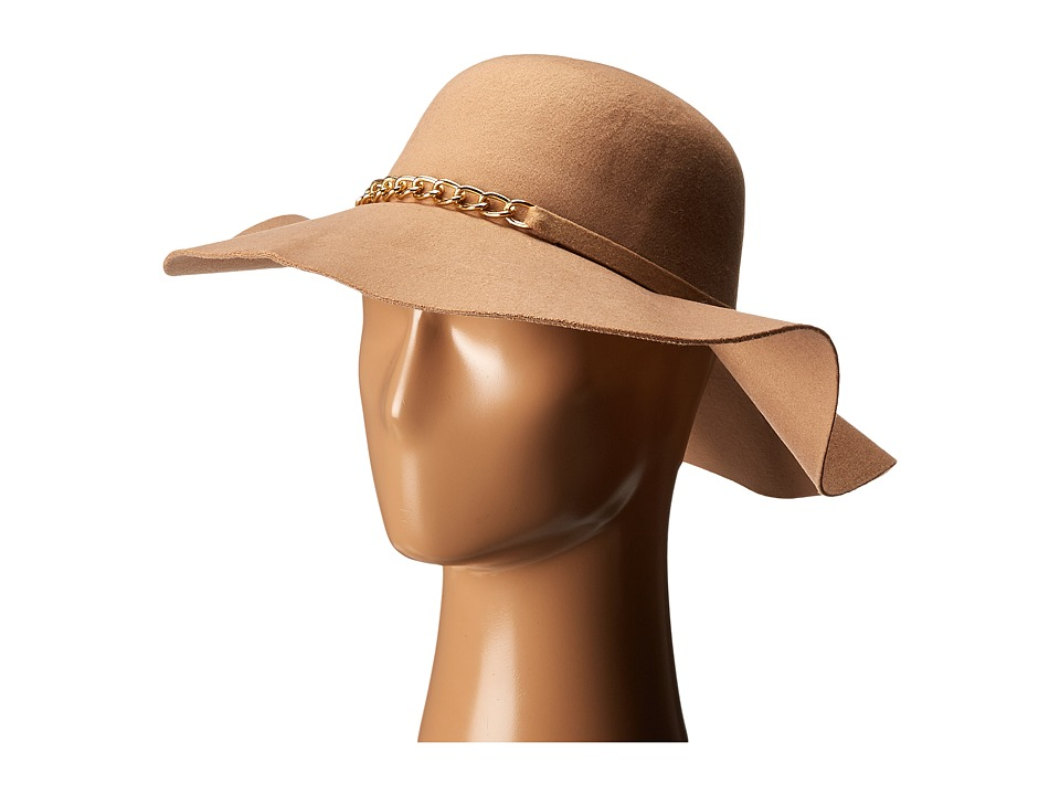 Gabriella Rocha - Eva Hat with Gold Chain (Camel) Caps
