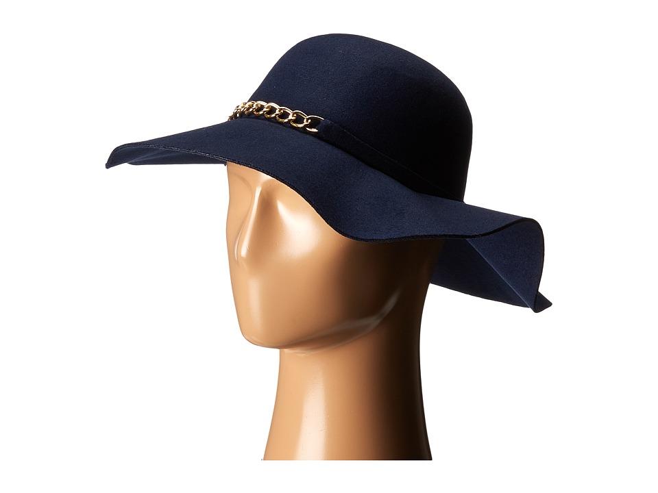 Gabriella Rocha - Eva Hat with Gold Chain (Navy) Caps