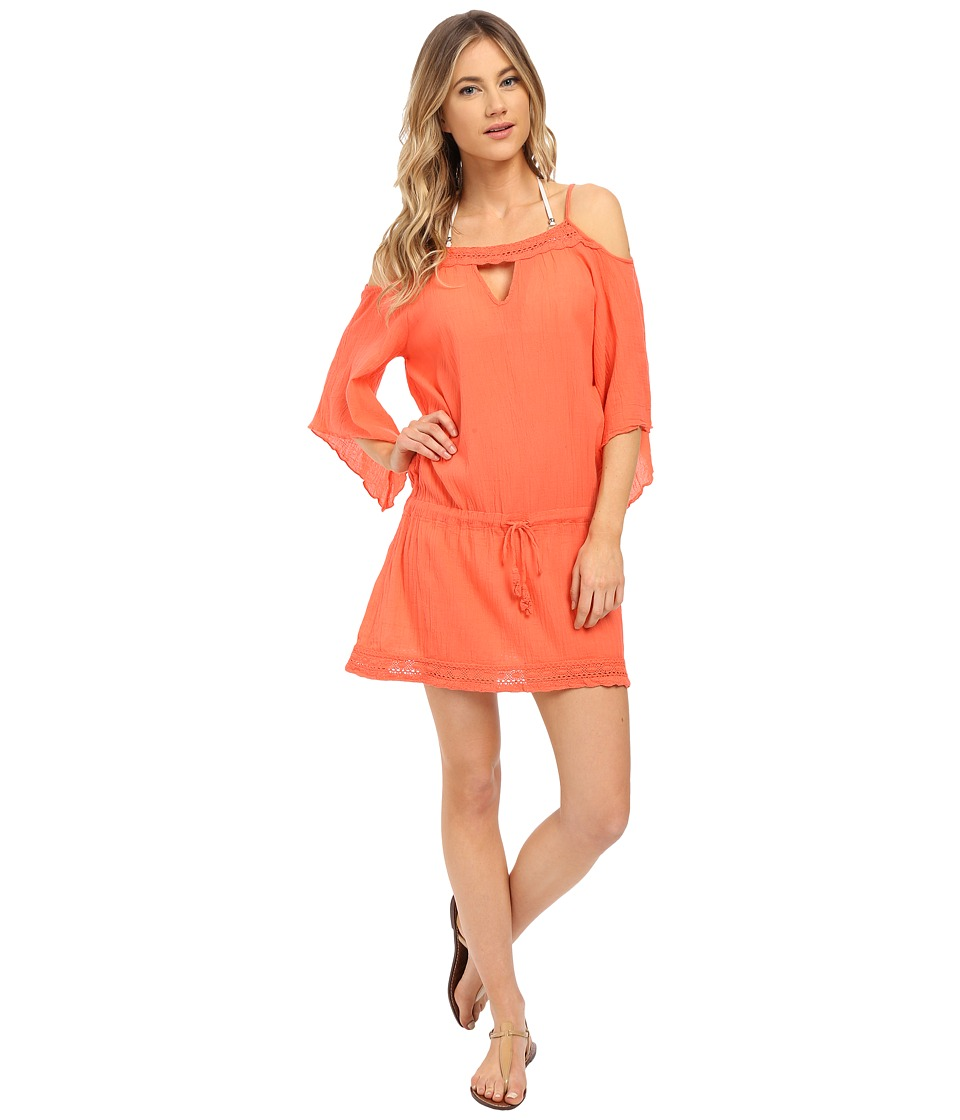 BECCA by Rebecca Virtue Tivoli Tunic Cover-Up (Papaya) Women