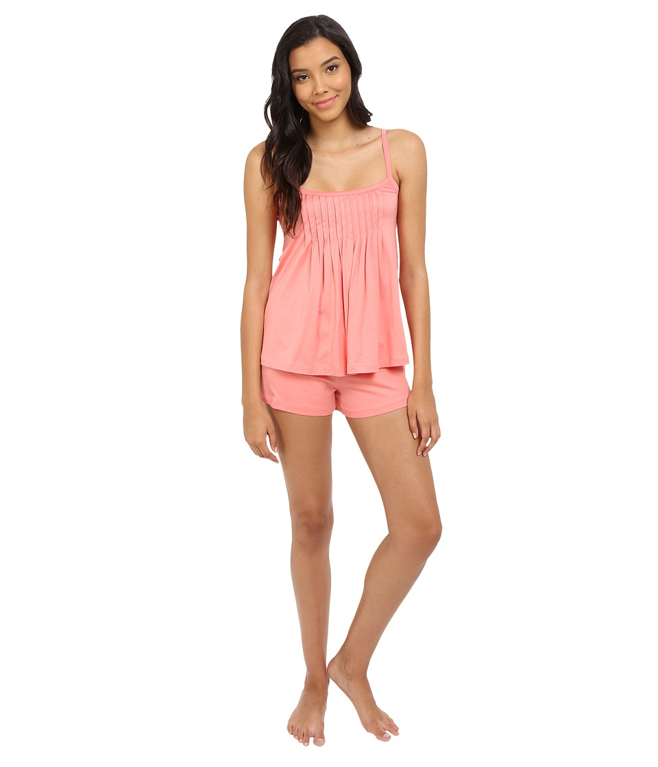 Hanro - Juliet-Basic Short Pajama (Porcelain Rose) Women's Pajama Sets