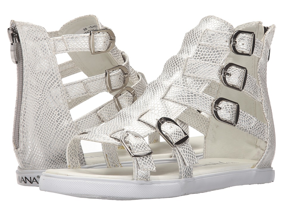 Amiana - 15-A5380 (Toddler/Little Kid/Big Kid/Adult) (Silver Metallic Python) Girls Shoes
