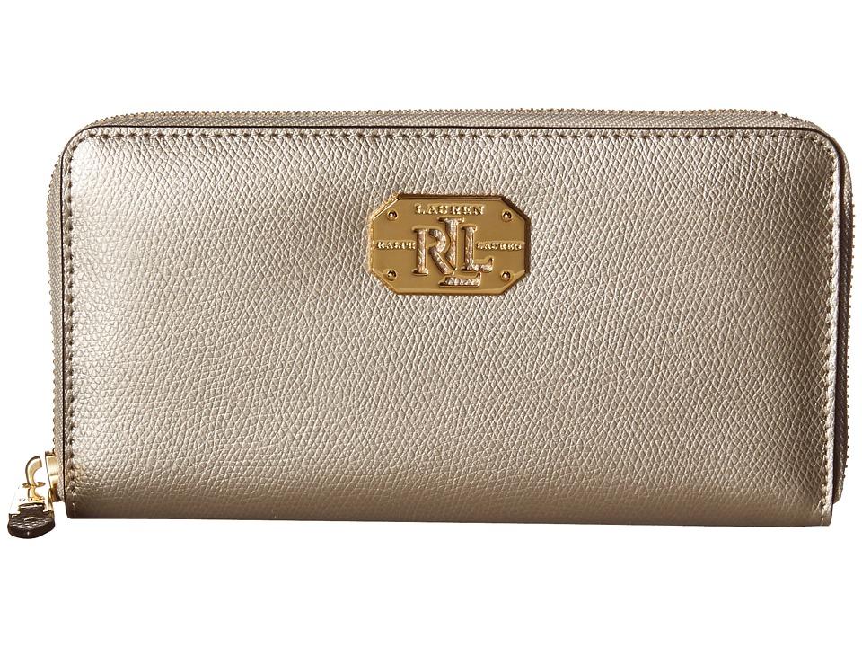 LAUREN Ralph Lauren - Whitby Zip Wallet (Silver Mink) Checkbook Wallet