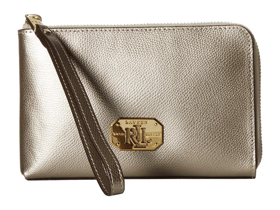 LAUREN by Ralph Lauren - Whitby Large Wristlet (Silver Mink) Wristlet Handbags