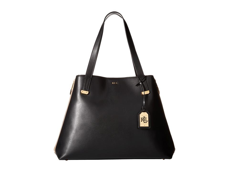 LAUREN Ralph Lauren - Guilford Tote (Black/Porcini) Tote Handbags