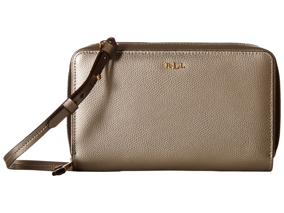 LAUREN by Ralph Lauren - Whitby Multifunction Crossbody (Silver Mink) Cross Body Handbags