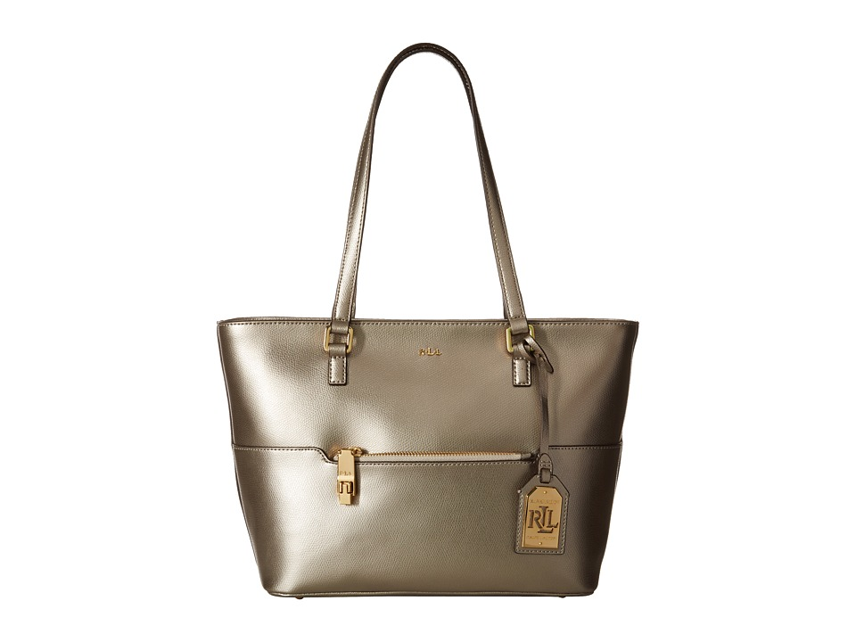 LAUREN Ralph Lauren - Whitby Pocket Shopper (Silver Mink) Handbags