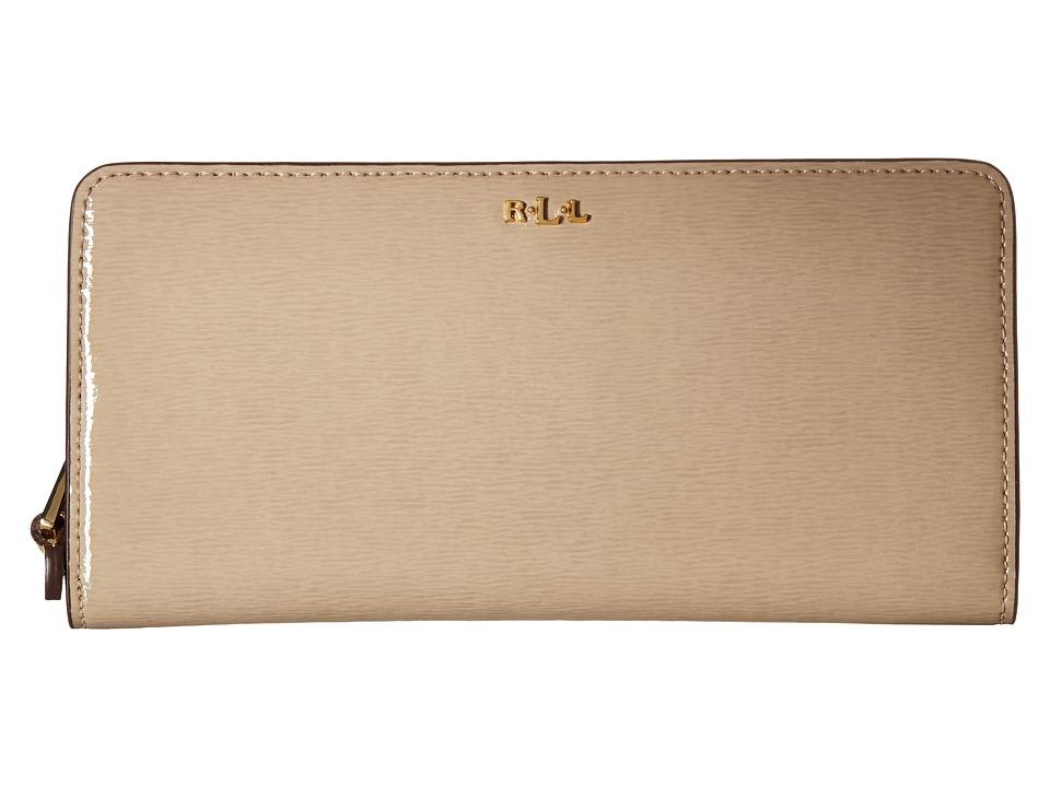 LAUREN Ralph Lauren - Tate Patent Snap Continental Wallet (Porcini) Wallet Handbags