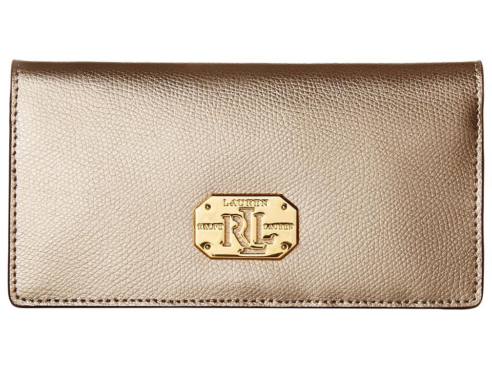 LAUREN by Ralph Lauren - Whitby Slim Wallet (Silver Mink) Wallet Handbags