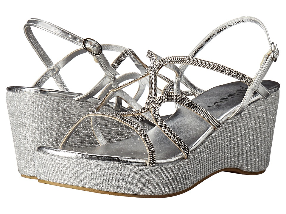 Image of Amiana - 15-A5385 (Little Kid/Big Kid/Adult) (Silver Metallic) Girls Shoes