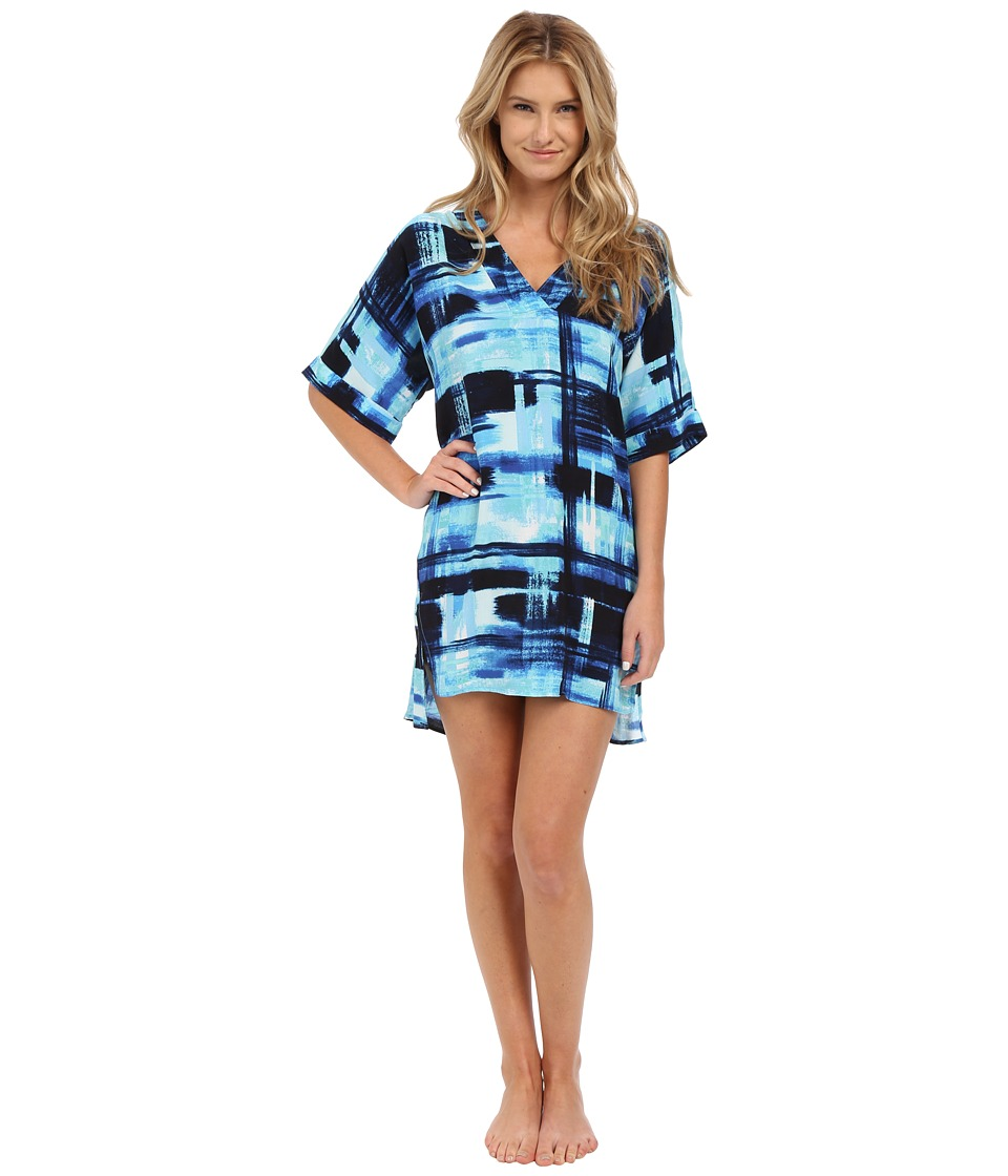 N by Natori - Glaze Dynasty 36 Sleepshirt (Blue Note) Women's Pajama