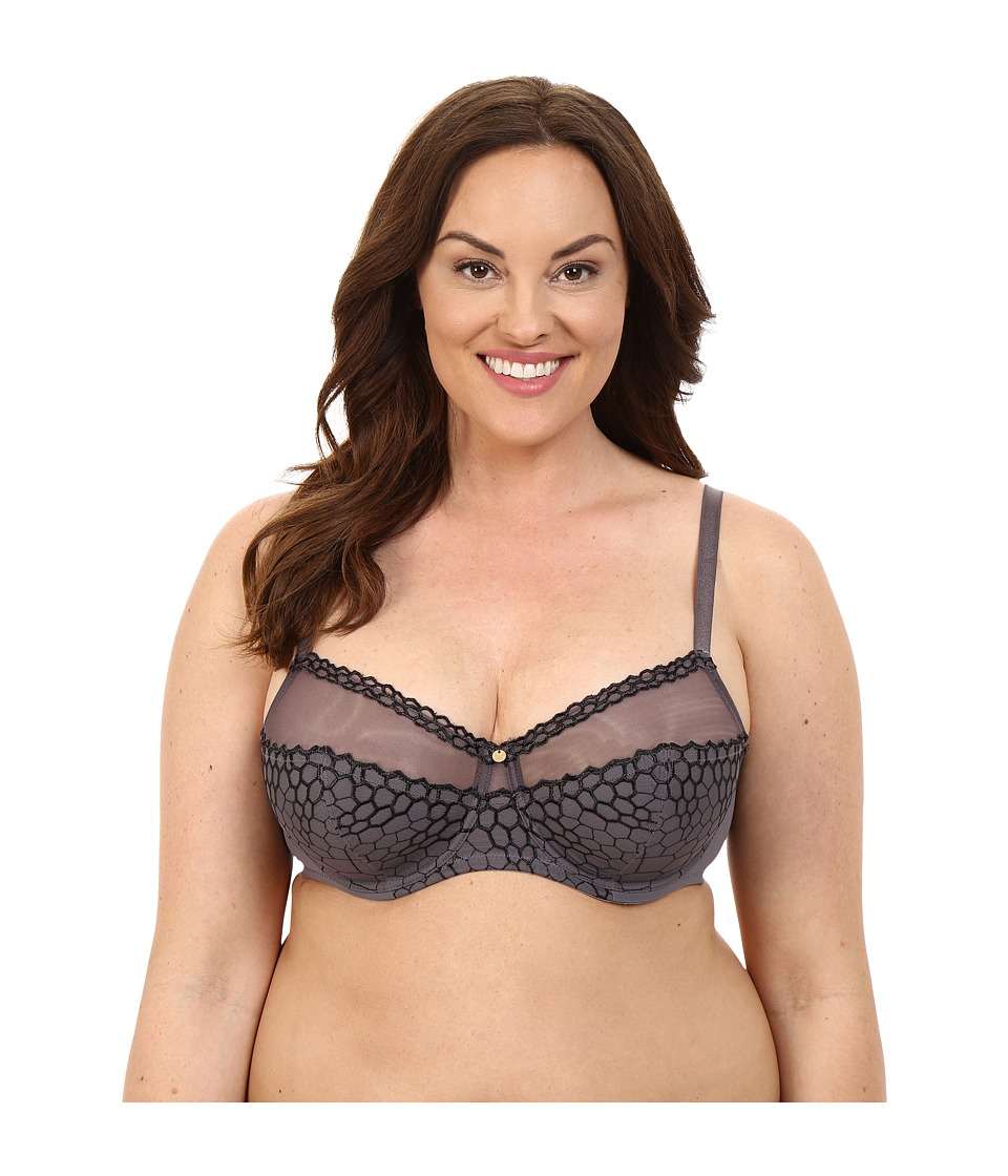 Natori - Showcase Full Figure Cut Sew Underwire Bra 736130 (Gunmetal Combo) Women's Bra