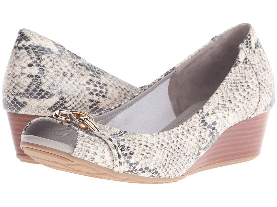Cole Haan Tali Open Toe Knot Wedge 40 (Roccia Snake Print) Women