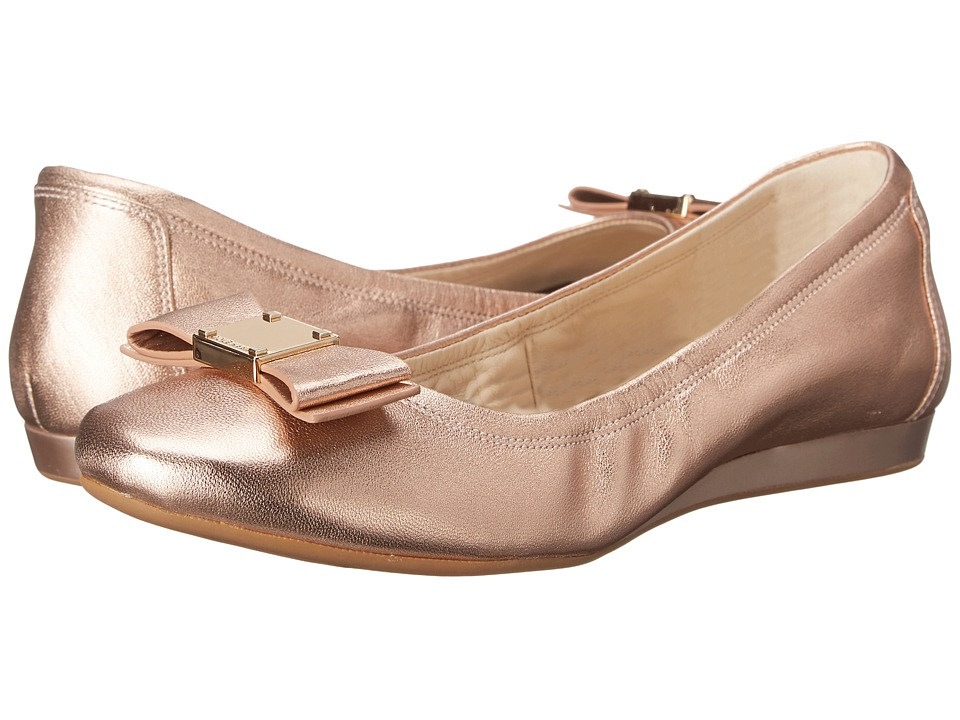 Cole Haan - Tali Bow Ballet (Rose Gold Metallic) Women's Slip on Shoes