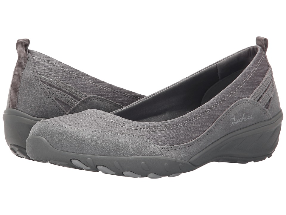 SKECHERS - Active Savvy - Dressed Up (Grey) Women's Slip-on Dress Shoes