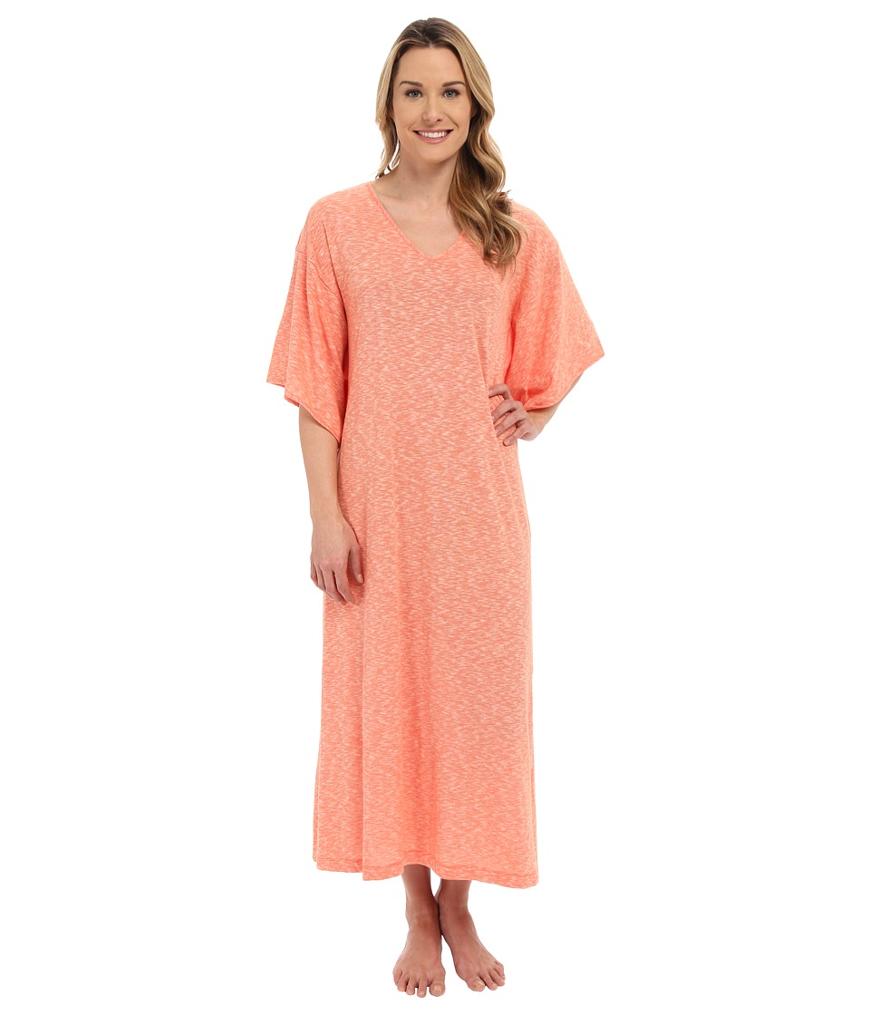 N by Natori - Slub Jersey Caftan (Sedona Orange) Women's Dress