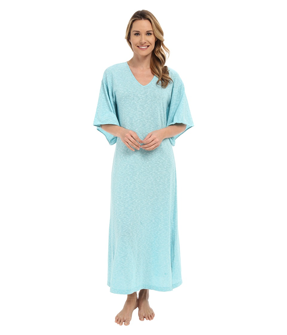 N by Natori - Slub Jersey Caftan (Aquamarine) Women's Dress