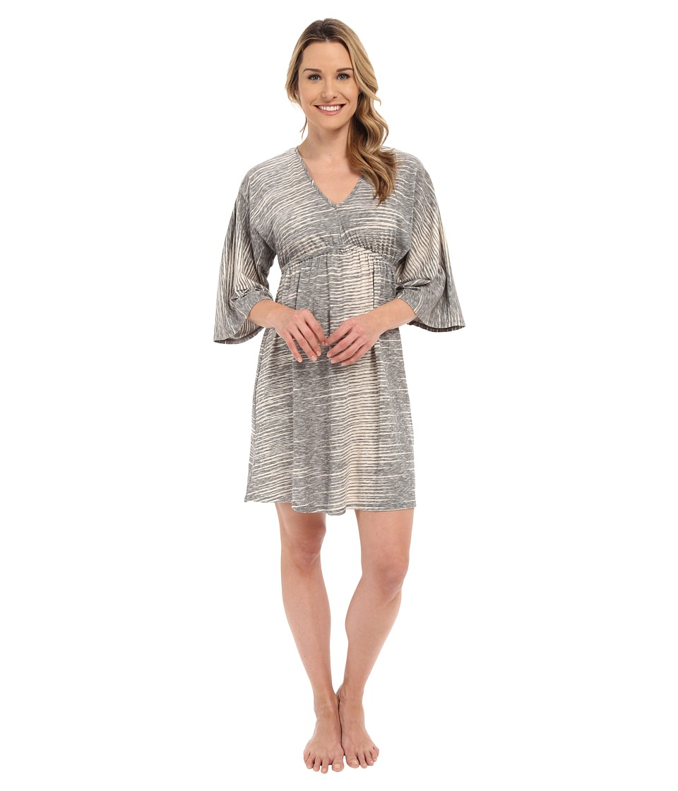 N by Natori - Sun Rays Tunic Sleepshirt (Black) Women's Pajama