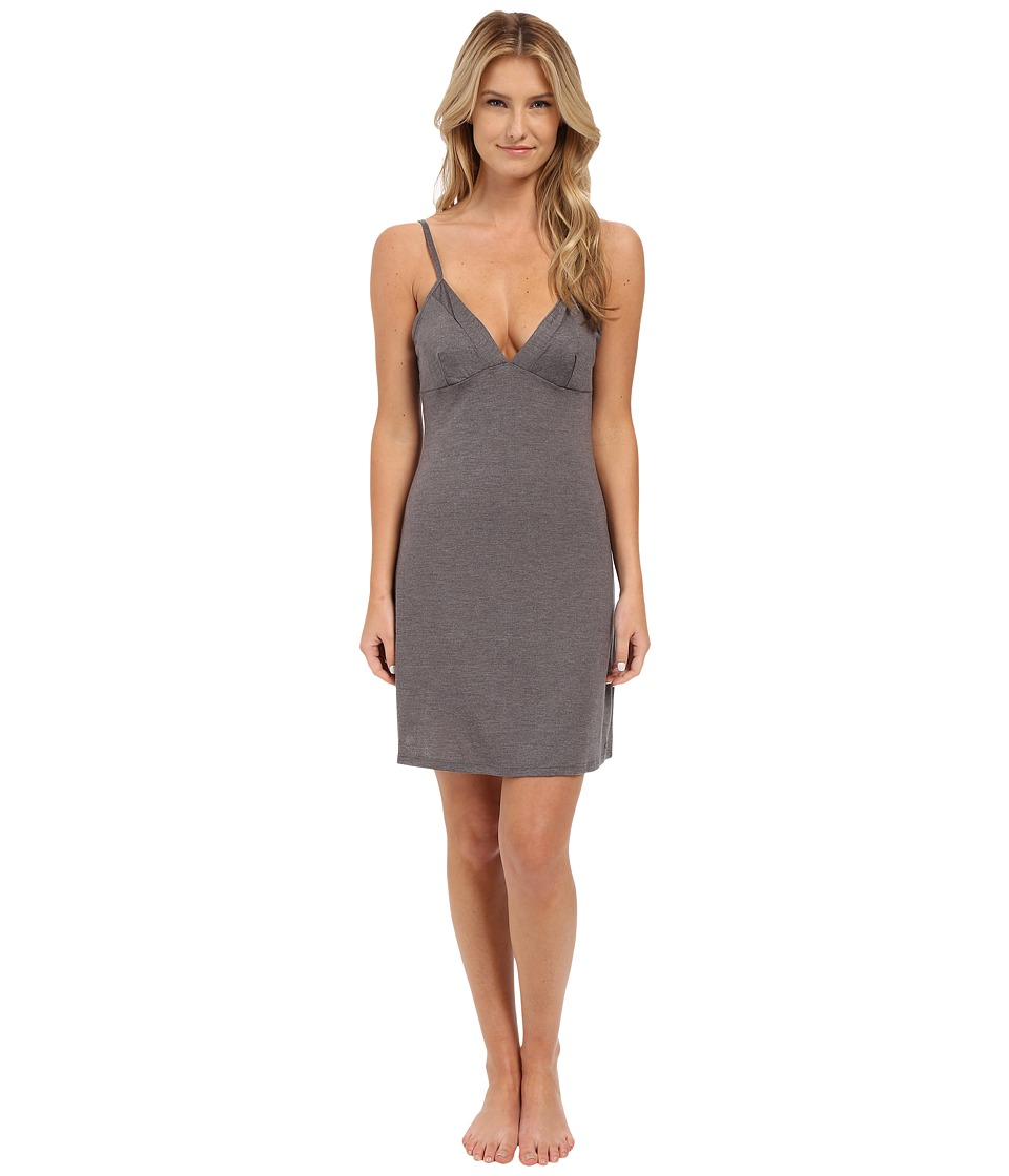 Calvin Klein Underwear - Liquid Lounge Chemise (Grey Heather) Women's Pajama