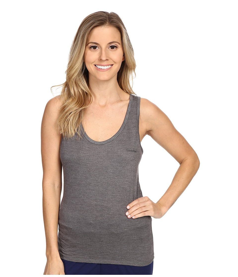 Calvin Klein Underwear - Liquid Lounge Tank Top (Grey Heather) Women's Sleeveless