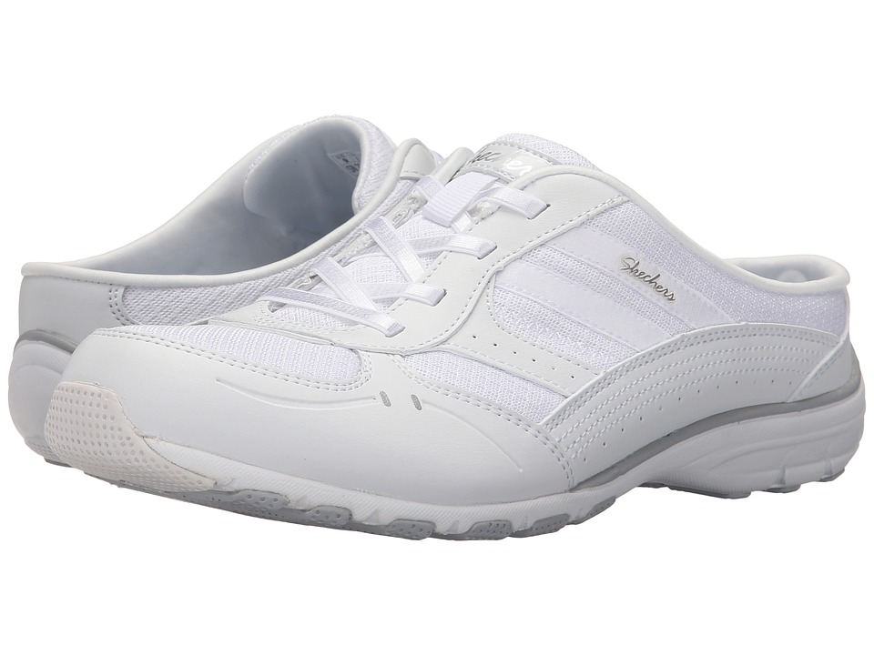SKECHERS - Active Conversations - Real Deal (White) Women's Slip on Shoes
